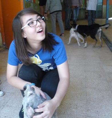 girl and dog two