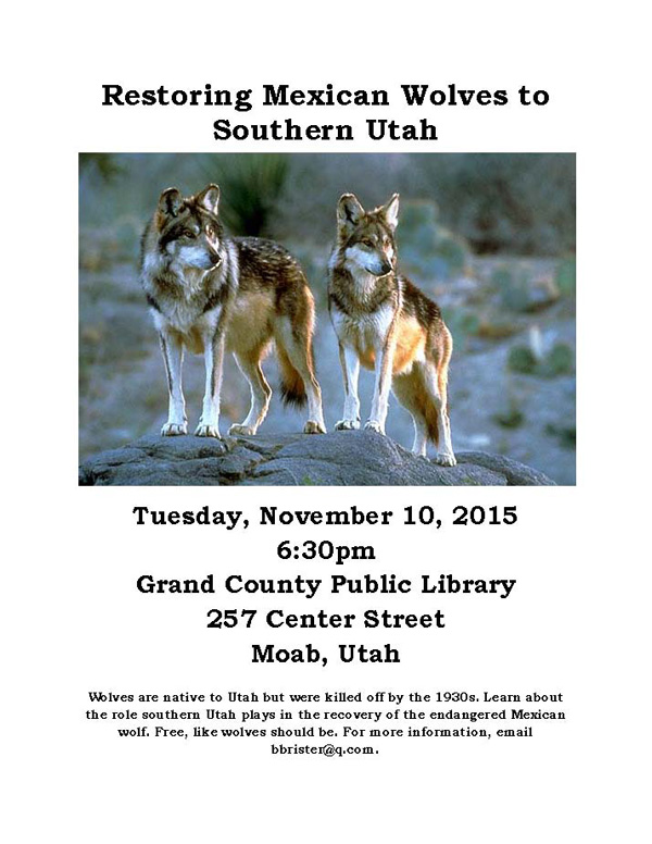 Restoring Mexican Wolves to