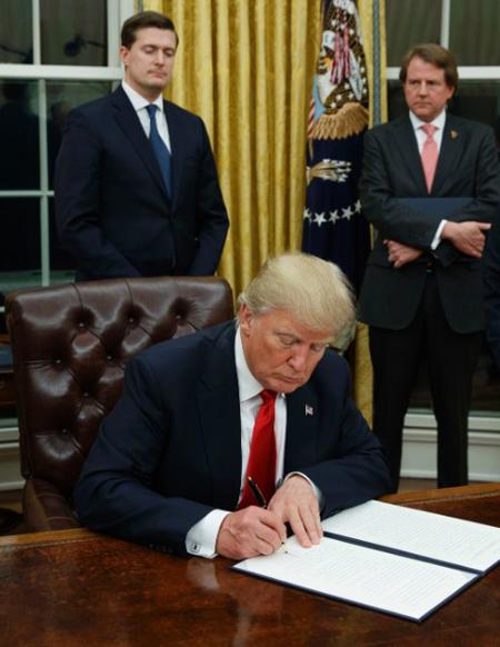 President Trump in the oval office / CNN